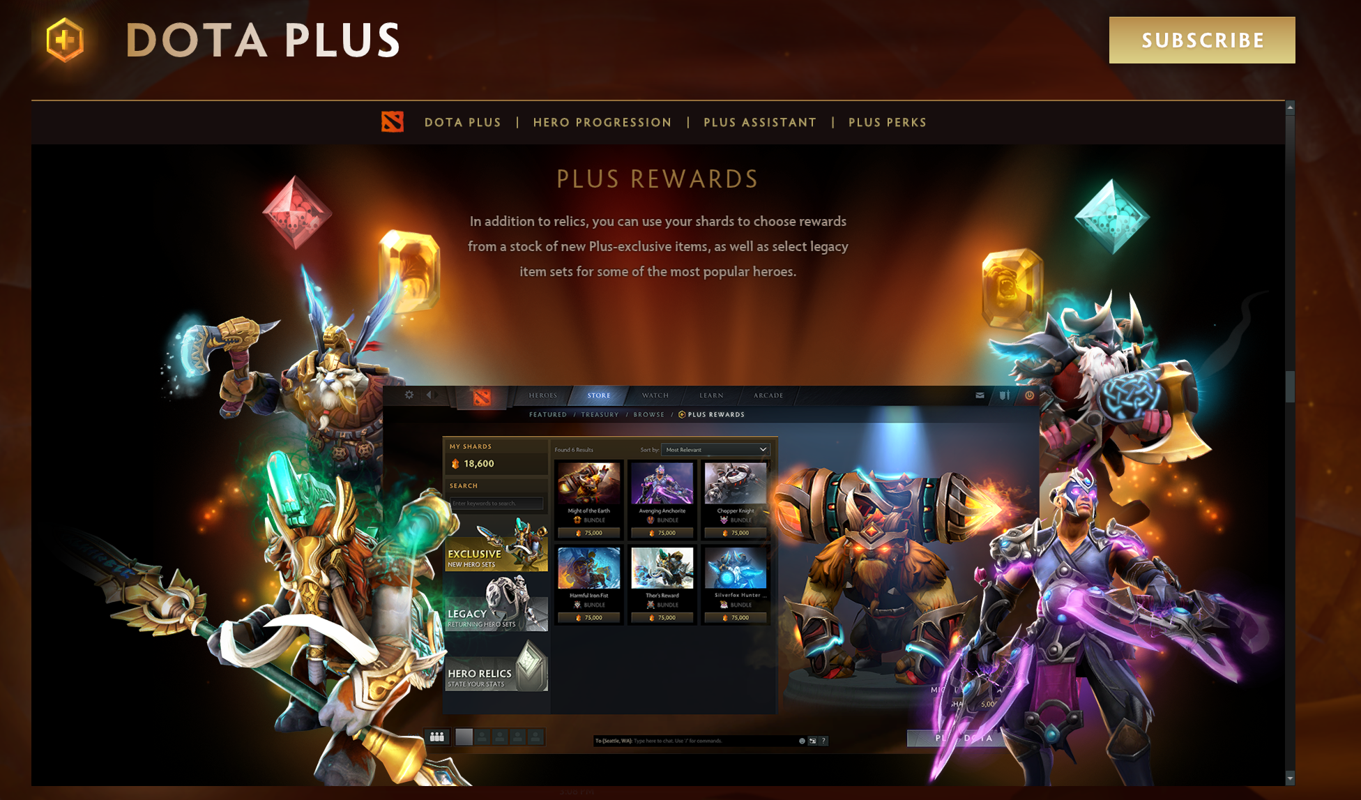 Valve Announces Dota Plus An Optional Subscription Service With Exclusive Perks